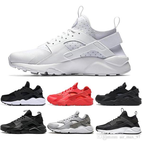 Nike air max Mit Socken Art und Weise Huarache 4.0 1.0 klassisches dreifaches weißes rotes Männer Frauen Huaraches beschuht Sportturnschuhe, die Spitzen laufen, verfolgen Schuhe