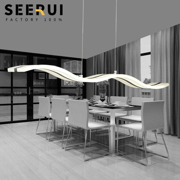 Modern basit yaratıcı ofis yemek odası kolye aydınlatma led lüks akrilik dalgalı lamba toplantı odası kolye ışık