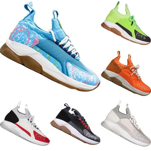 Con Box 2019 Reacción en Cadena de las lentejuelas de malla del basculador de los zapatos originales Cruz Chainer Reacción 2.0 Lentejuelas Buffer espuma amantes de los deportes Zapatos