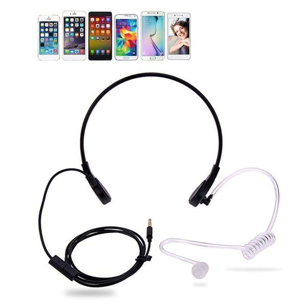 1pin 3.5mm Throat Mic Microphone Covert Acoustic Tube Earpiece Headset For Smart Phone Earphone