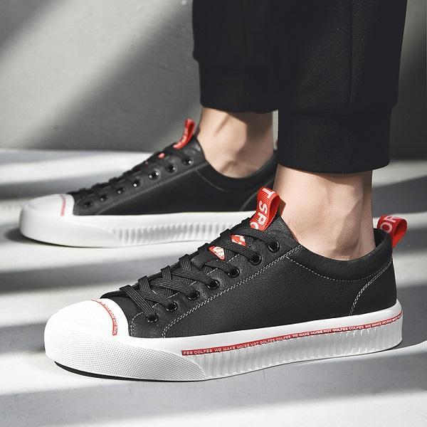 Bull family 2019 Nouveau classique de la mode rétro chaussures de cuir décontracté concepteur blanc plus noir bicolore classique