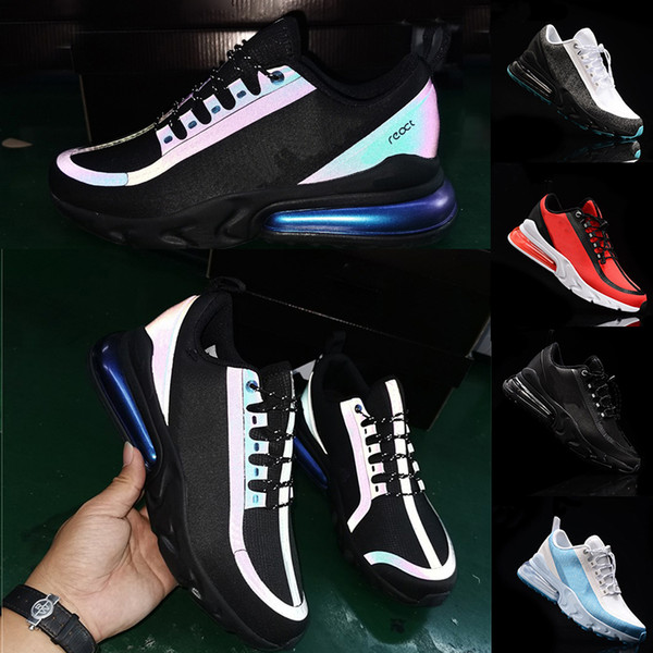 2019 Glow In Dark React V2 Waterproof Upper Running Shoes 3m Reflective Triple Black chameleon Demon White Red Mens Womens Sports Trainers