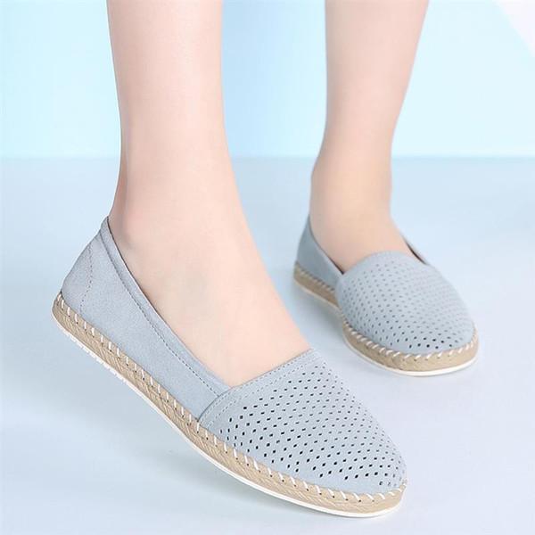 Femmes Ballerines En Daim Slip Sur Mocassins Chaussures De Marche Creuses Dames Légères Chaussures De Soins Infirmiers