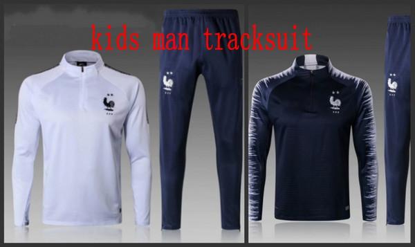 2 Stars kids tracksuit Maillot de Foot survetement MBAPPE jerseys jogging tracksuit training track suit adult Survêtement de football