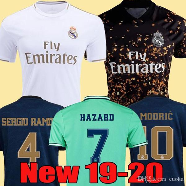 2019 2020 Real Madrid calcio Jersey PERICOLO casa lontano camicia di calcio adulto ASENSIO ISCO MARCELO Madrid 19 20 bambini corredo delle uniformi di gioco del calcio