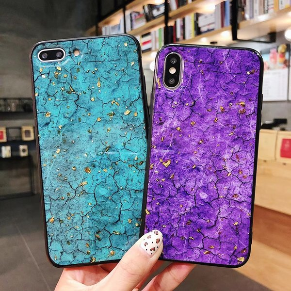 Hot Selling Case for IPhone 7 Luxury Platinum Drop Gel Phone Cases Purple Blue Coque for Iphone X XR XS