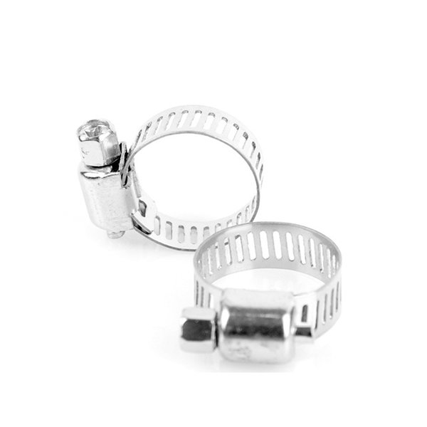 Multi Size 100pcs Screw Worm Drive Stainless Steel Adjustable Drive Hose Clamp Fuel Line Worm Size Clip Hoop Hose Clamp Hot Sale