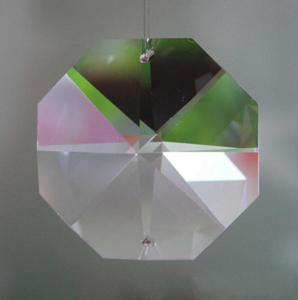 Kristal Sekizgen Boncuk K9 Kristal Kristal Aksesuarları Avize Parçaları DIY Düğün Dekor Ev Dekorasyon