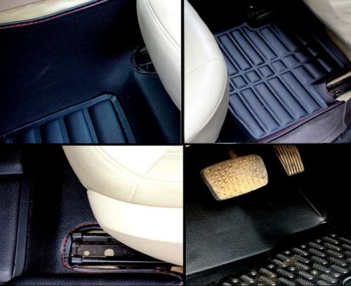 Car Trunk Mat Floor Mat Custom Made for 95/% of Car Models Floor coverage All Weather Trunk Protection Waterproof Cargo Mat Non-Slip Leather Liner Set Beige