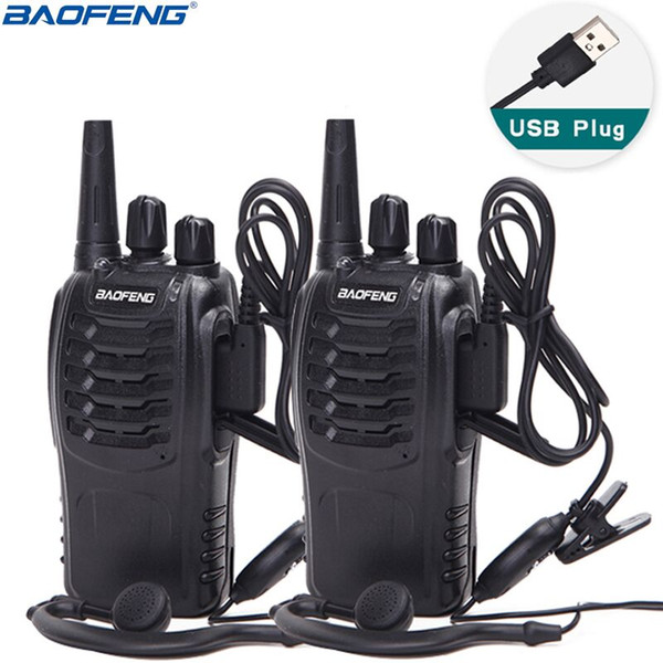top popular 2 PCS Baofeng BF-888S Walkie Talkie 5W Two-way radio Portable CB Radio UHF 400-470MHz 16CH Comunicador Transmitter Transceiver 2021