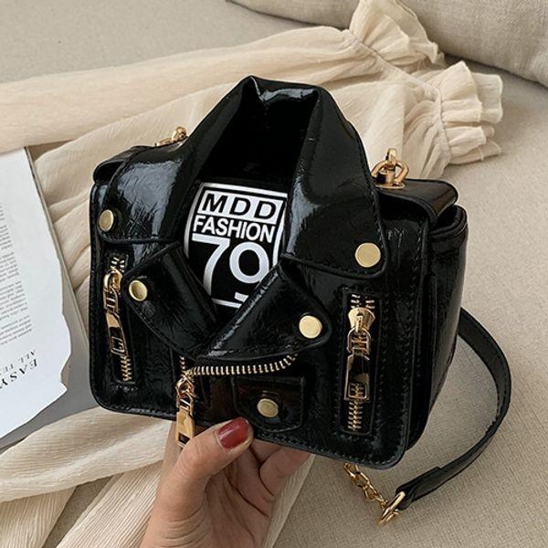 Women shoulder bags women chain bags crossbody bag fashion Black handbags female purse bag 2018 Lapel jacket Designer handbag