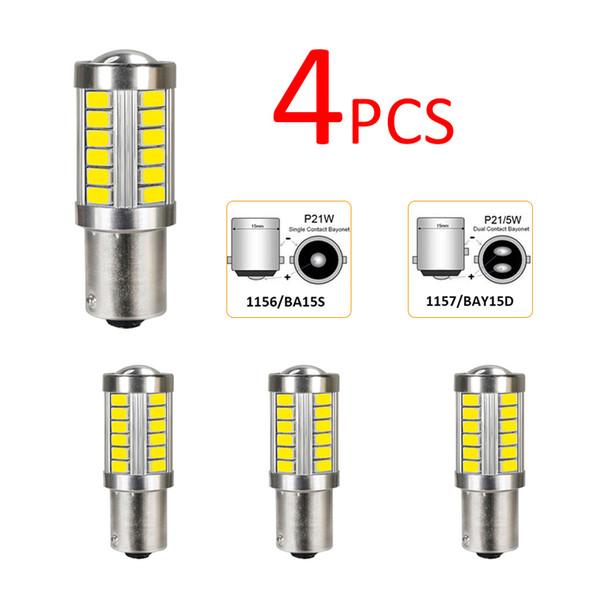 2//4pcs 1156 BA15S P21W 5630 33SMD LED Driving Brake Turn Singal Car Light Bulbs