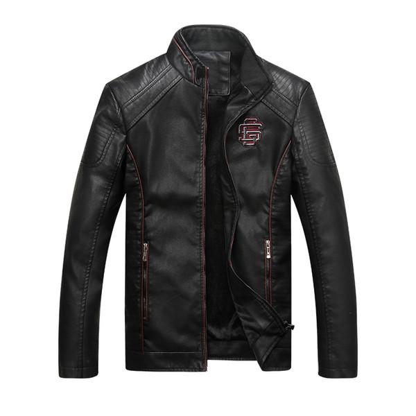 Männer Leder Wildleder Jacke Mode Herbst Motorrad PU Leder Männliche Winter Bomber Jacken Oberbekleidung Faux Mantel