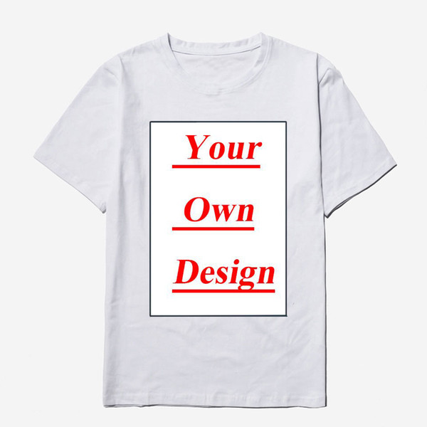 Customized Men's Cotton O-Neck T shirt Print Your Own Design High Quality