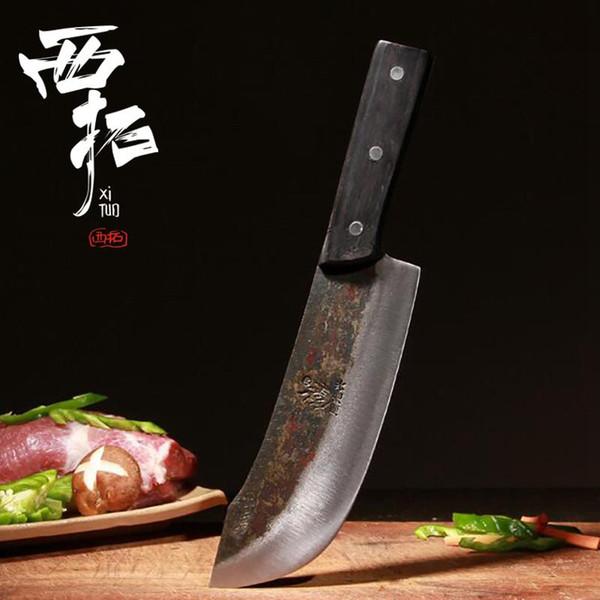 Mano ha forgiato Coltello da cucina Sharp Sashimi Pesce Coltello da Chef disossato Splitter acciaio di tungsteno Slaughter Fetta Iniziale Hotel Strumento