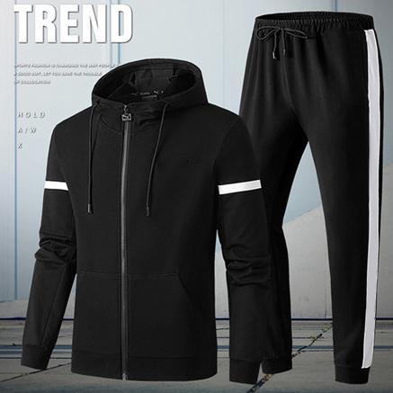 2019 Designer Tute con cappuccio Patchwork colore puro di marca Kit Sport Giacche attivi + vestiti di pantaloni Outfit esecuzione CasualLJJ98312