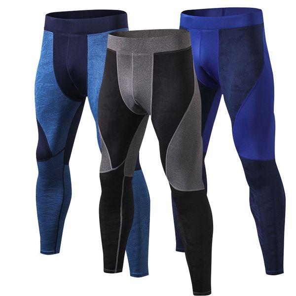 Mens Compression Running Pants Basketball Soccer Spandex Long Tights Sports Gym