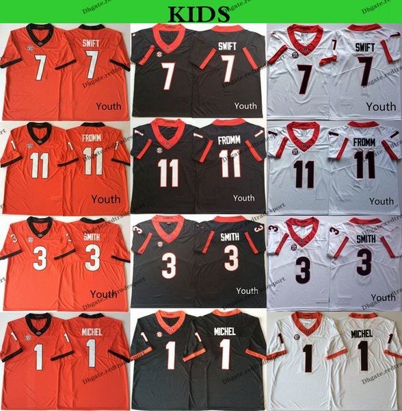 the latest d03da ad5a1 2019 2019 Youth Georgia Bulldogs College Football Jerseys Kids 1 Sony  Michel 3 Roquan Smith 11 Jake Fromm 7 D'Andre Swift Stitched Shirts From ...