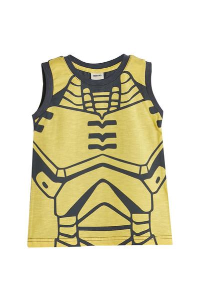 Logo seja amarelo antigo dos heróis super camiseta sem manga