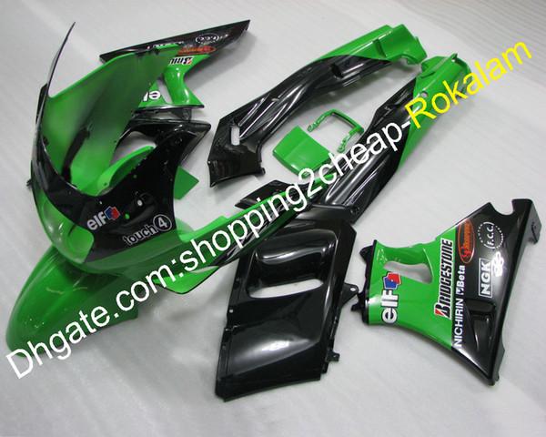 Giunto Moto Per Kawasaki Moto Parts ZZR400 1993-2003 ZZR 400 93-03 ZZR-400 Verde Nero ABS Carrozzeria Carena Kit (stampaggio ad iniezione)