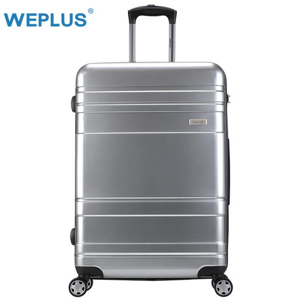 WEPLUS Koffer Bussiness Rollgepäck Reisekoffer mit Rädern TSA Lock Spinner Benutzerdefinierte Rod Box Frauen Männer 20 24 28 zoll
