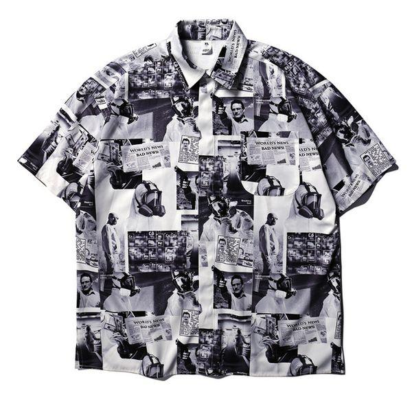 2019SS Gazete Erkekler TShirt Kadın Streetwear Tişört Harajuku Xxxtentacion Hip Hop Üst Tee Streetwear Wayne Tshirt