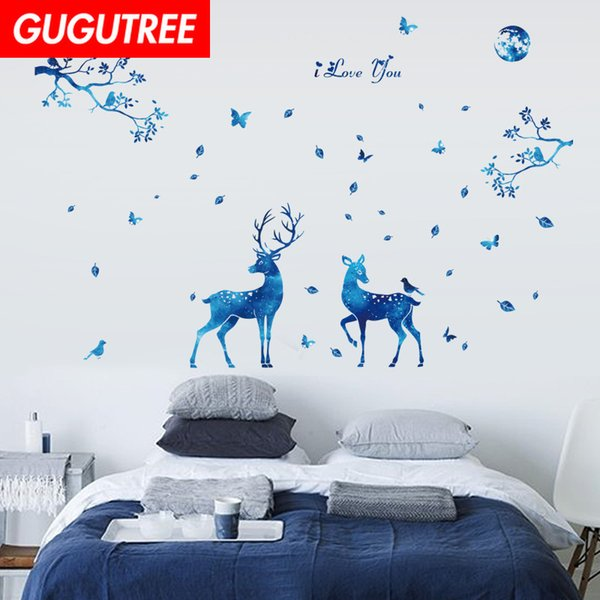 Decorate Home trees star deer cartoon art wall sticker decoration Decals mural painting Removable Decor Wallpaper G-2057