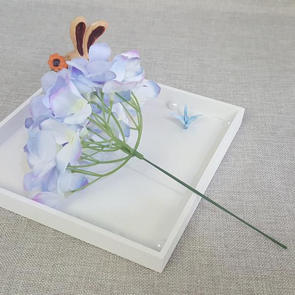 Matrimonio Azzurro Ortensia : Acquista cm fiori di ortensia artificiali fiori di seta testa