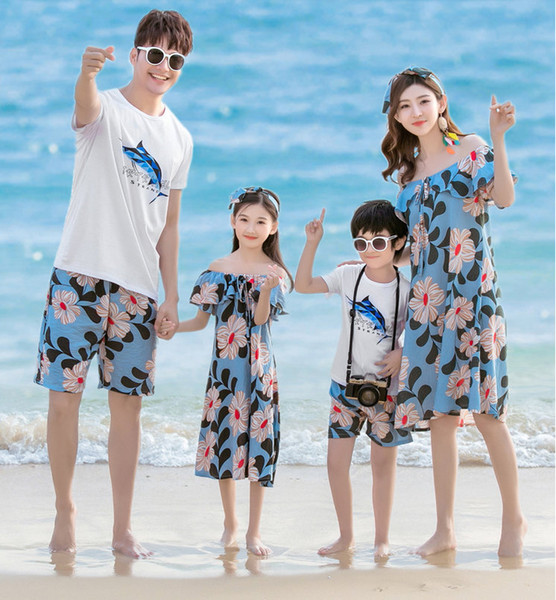 best selling Jeff store Family Matching Outfits comfortable best quality 2019 new fashion
