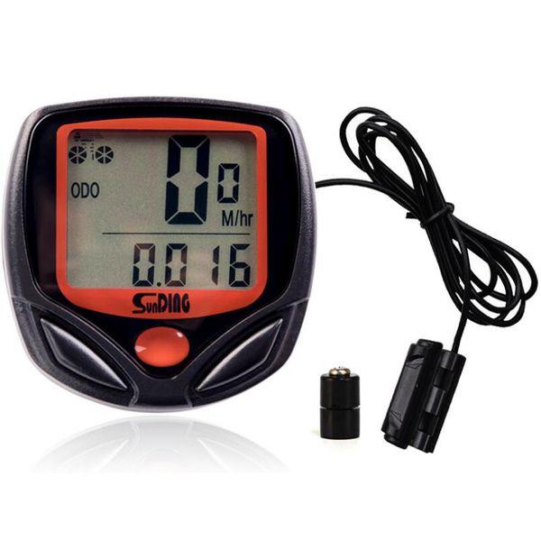 Ordenador de bicicleta con pantalla digital LCD impermeable bicicleta cuentakilómetros velocímetro ciclismo cronómetro accesorios de equitación herramienta LJJZ70