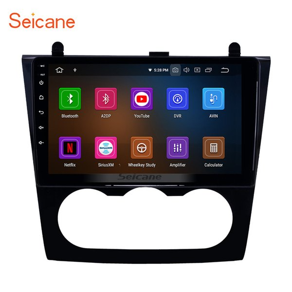 8-core 9 Inch Android 9.0 Car Radio GPS Navigation for 2008-2012 Nissan Teana Altima Manual A/C with USB Bluetooth support SWC Car DVD 4G