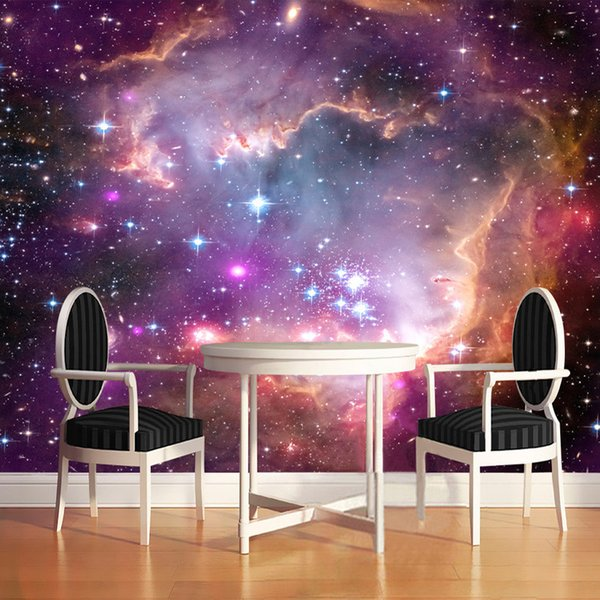 Custom Any Size 3D Wall Mural Photo Wallpaper Modern Fashion Cosmic Space Starry Sky Mural Wall Paper For Walls Papel De Parede