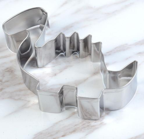 1pc Stainless Steel Biscuit Mould Dinosaur Shape Fondant Cake Mold DIY Sugarcraft 3D Pastry Cookie Cutters Cake Tools