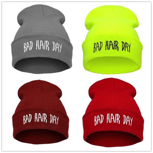 Designer Hats Beanies Knitted Bad Hair Day Beanie hat Hip hop Skullies warm pom beanies Unisex