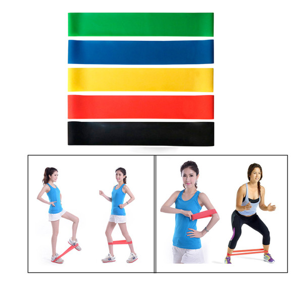 top popular 5 Colors Elastic Yoga Rubber Resistance Assist Bands Gum for Fitness Equipment Exercise Band Workout Pull Rope Stretch Cross Training 2021
