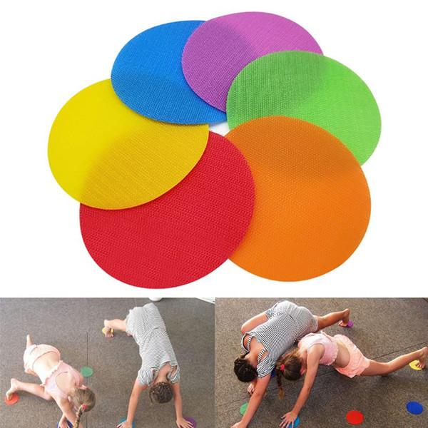 Marcos Etiqueta colorida cinta adhesiva Ronda de juego divertido baile Formación marcador de múltiples funciones de la cinta de la familia accesorios del juego