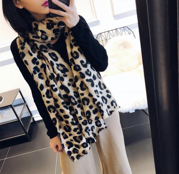 2019 новый бренд шарф женская длинная шаль зима обертывания дизайнер шарф кашемир леопардовый принт печатный шарф для женщин #226
