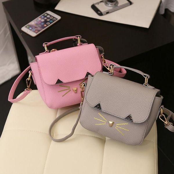 Quality Pu Leather Women Bag 2019 New Fashion Handbags Korean Version Of The Small Wild Cat Portable Shoulder Bag Ladies Bag