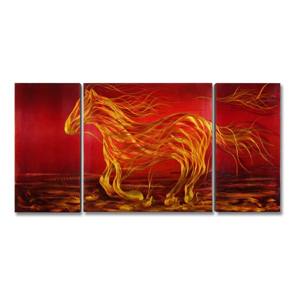 Running Horse Picture Modern Painting Wall Art Animal Original Home Decor Spray Painting Home Decoration Accessories
