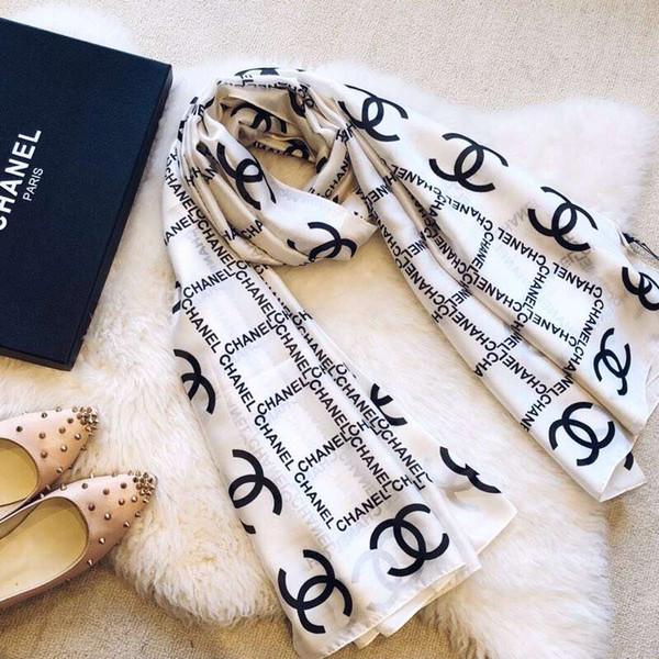 Echarpe haut de gamme design madame écharpe en soie imprimée luxe super long luxe châle printemps mode