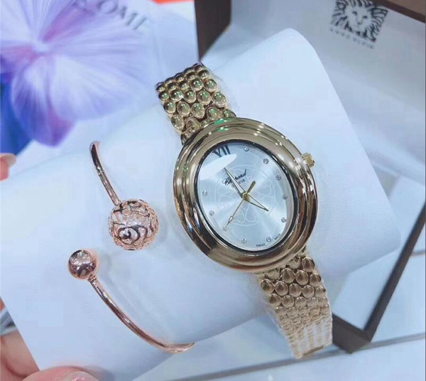2019 NEW Fashion Women's diamond brand Wathces Luxury Multi-color Silver Black Rose Gold Stainless steel Ladies Dress Watch free shipping