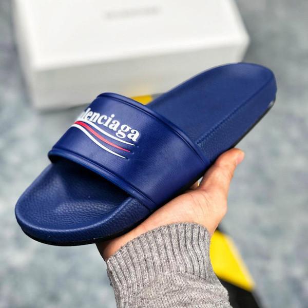 Los hombres de las mujeres sandalias zapatos de diseño de lujo de diapositivas de moda de verano ancho sandalias planas zapatillas Flip Flop 121 tamaño 36-45