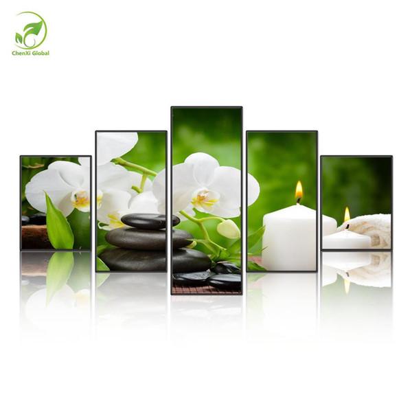 Satın Al Zen Taş Sağlık 5 Parça Hd Tuval Baskı Yeni Ev Dekorasyon