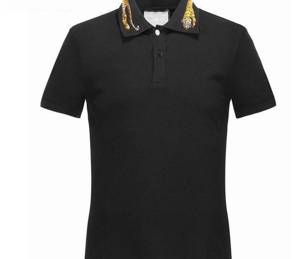 2018 été Designer T-shirts pour hommes Hauts broderie Tigre Poloshirt Hommes Serpent Marque à manches courtes T-shirt Femmes Tops Taille M-3XL