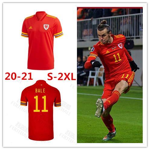 Eurocopa 2020 2021 Gales del jersey de fútbol 20 21 BALE ALLEN James Wilson Ben Davies Camisetas del equipo nacional de fútbol camisas para hombre de origen chándal