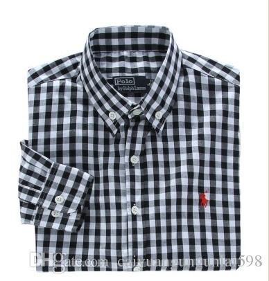 Новая мода маленькая лошадь Оксфорд мужчины рубашки с длинным рукавом Мужские рубашки платья высокого качества мужские деловые рубашки поло сорочка Homme 7045