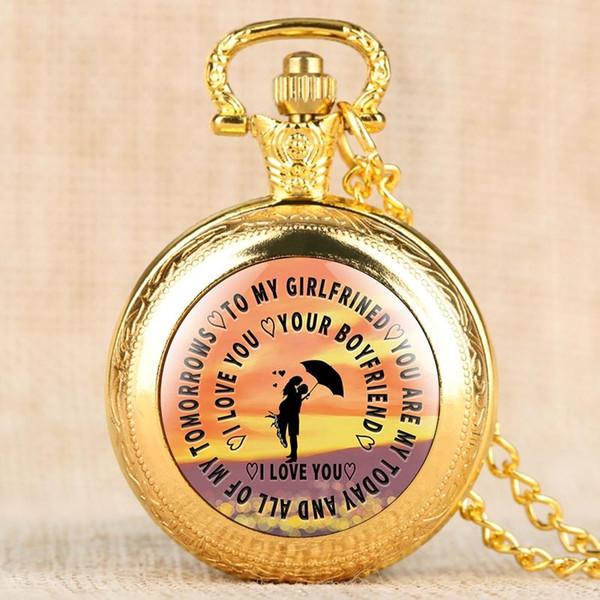 Kişiselleştirilmiş Hediyeler Kız Arkadaşı için Cebi, sevgililer Günü Hediyesi Kadın için Cep Saatleri, Kazınmış Cebi Kolye için Lo