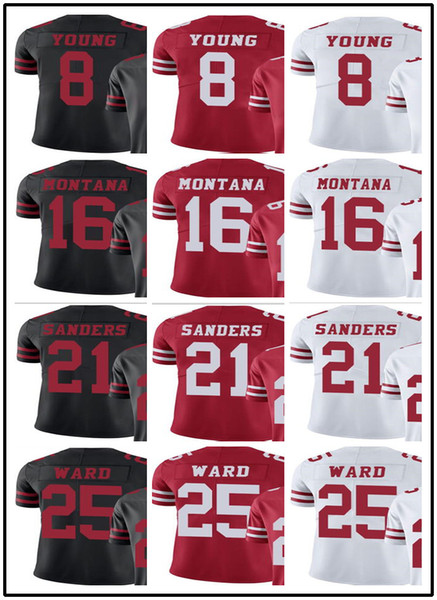 quality design 55950 aca97 2019 2018 Can Custom Men San Francisco 49ers Jerseys #8 Steve Young 16 Joe  Montana 21 Deion Sanders 25 Jimmie Ward Men Jersey Rugby Clothing From ...