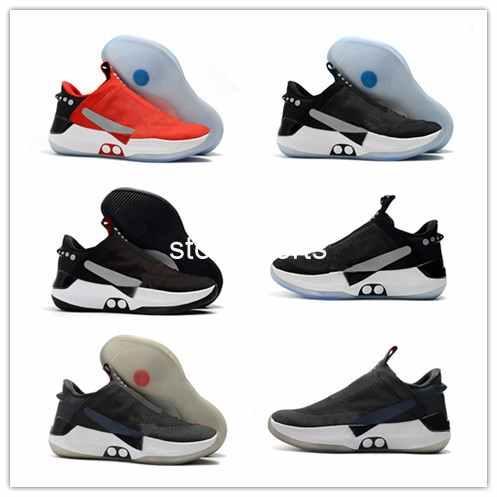 Migliori Scarpe Running 2019 Nuovo Arriva Chaussures Nike Adapt BB Scarpe Da Pallacanestro Sportive Rosse Nere Alte Scarpe Da Ginnastica Comode Di