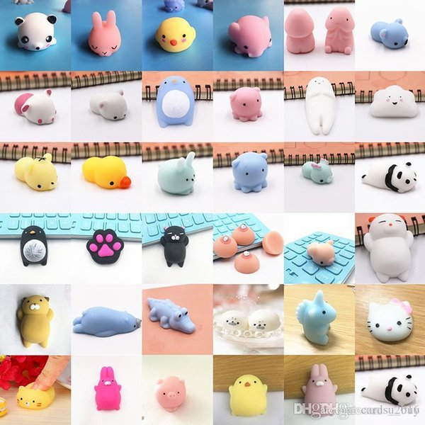 2018 Squishy Slow Rising Jumbo Toy Bun Toys Animals Cute Squeeze Cartoon Toy Mini Squishies Cat Squishiy Fashion Rare Animal Gifts Charms